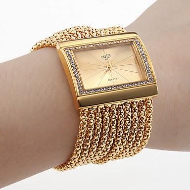 Reloj Pulsera Dorado estilo Brazalete