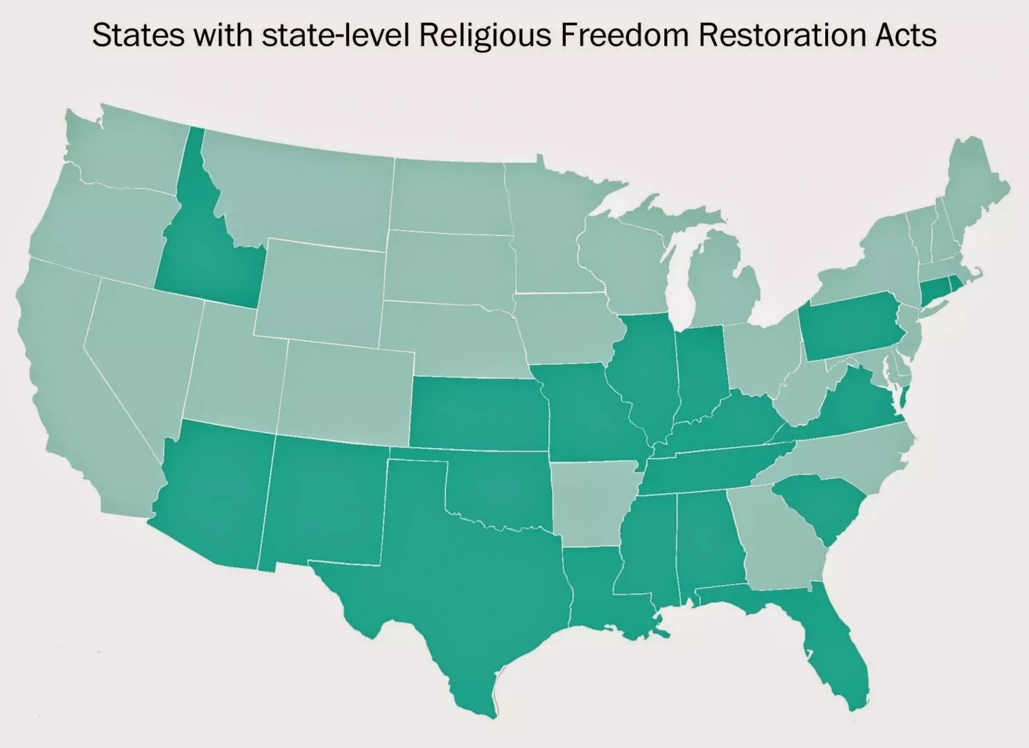 of these religious restoration acts to be implemented in the united states as a matter of fact it is the 21st state to pass some form of the bill