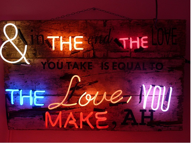 And in the end the love you take is equal to the love, you make, ah.