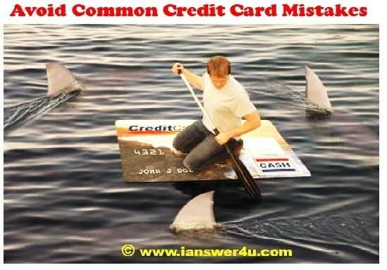 Credit card blunders that affect your credit score, ratings, loans