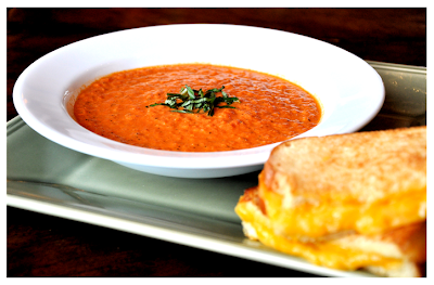 Have grilled cheese and tomato soup.