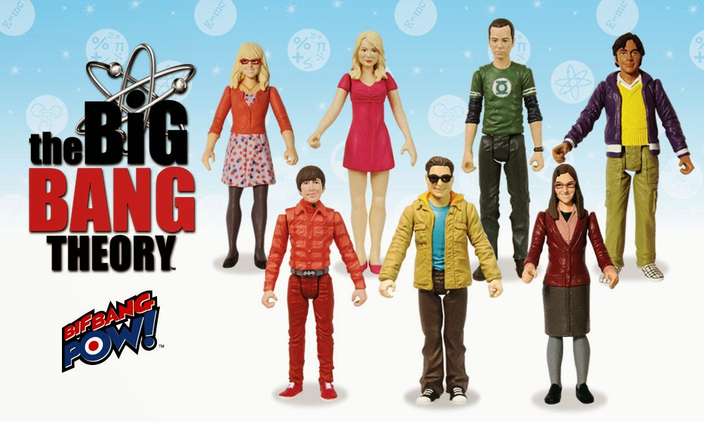 "The Big Bang Theory Series 1 3¾"" Action Figures by Bif Bang Pow!"
