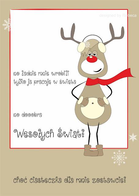 świąteczna kartka dla Was