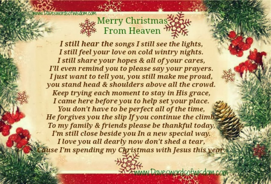 merry christmas from heaven - Merry Christmas In Heaven