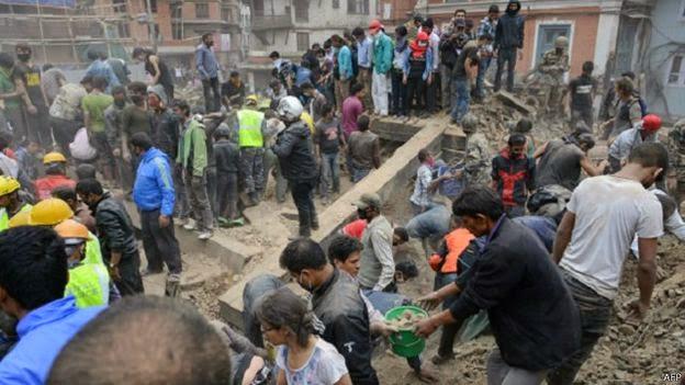 1.400 Tewas, Ribuan Masih Terjebak Gempa Dahsyat di Nepal