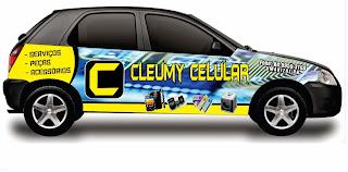 """JÁ FICOU PRONTO O NOVO ADESIVO PARA O CARRO DA LOJA DE """"CLEUMY CELULAR"""" #DEUSNOCOMANDO"""
