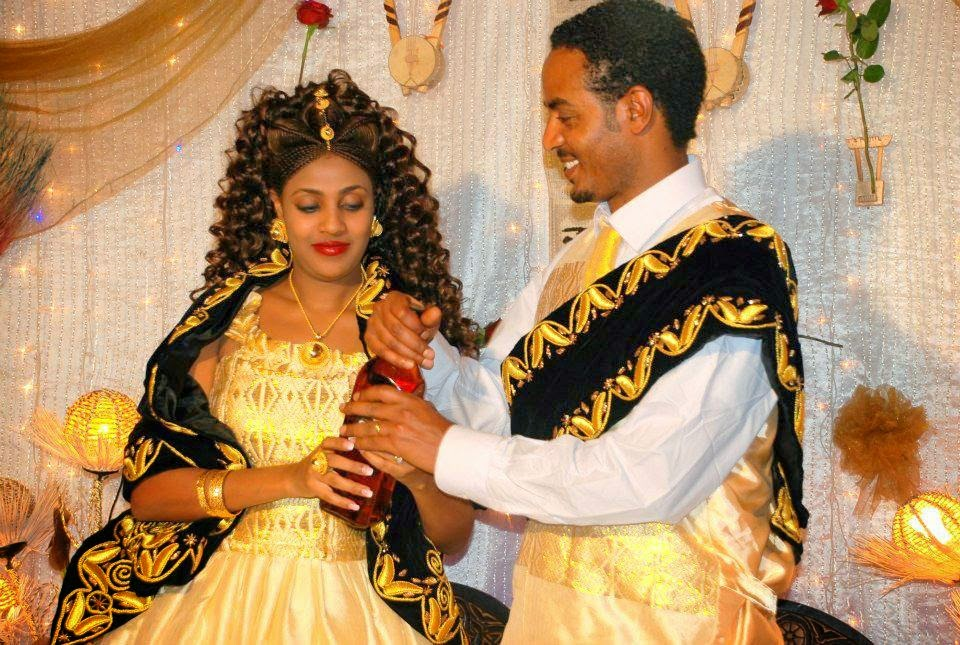 Ethiopian Culture Beautiful Outfits For Groom And Brides