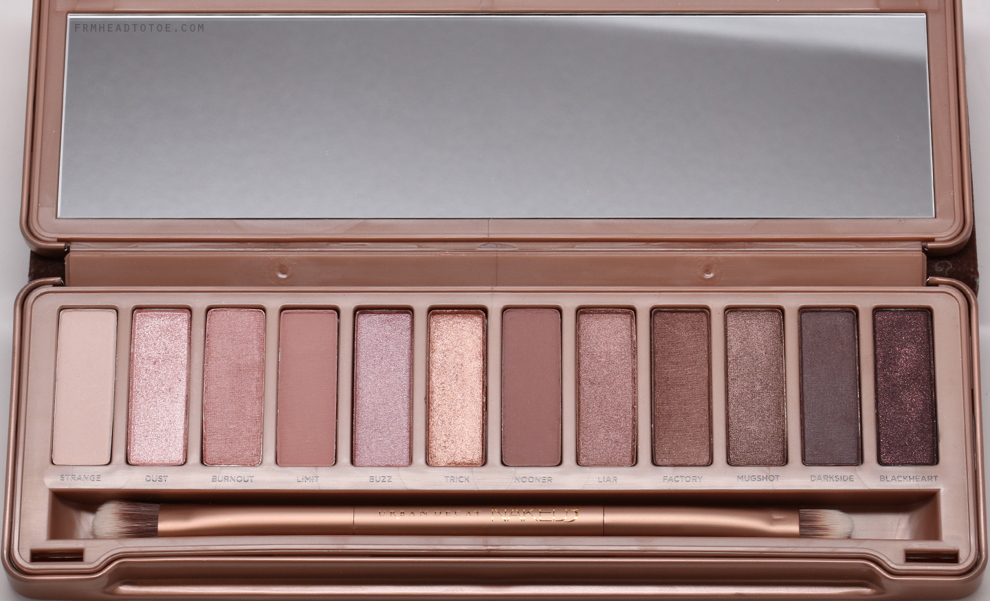 review swatches urban decay naked 3 palette from head