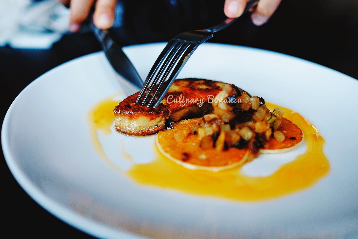Foie Gras with spiced fruits & orange glaze