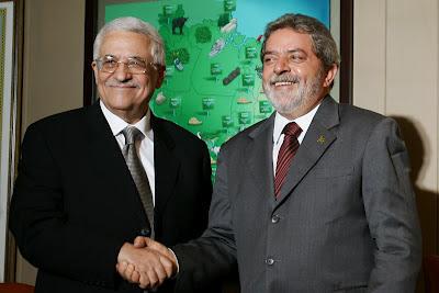 Presidente lula e o Presidente da Palestina Mahmud Abbas