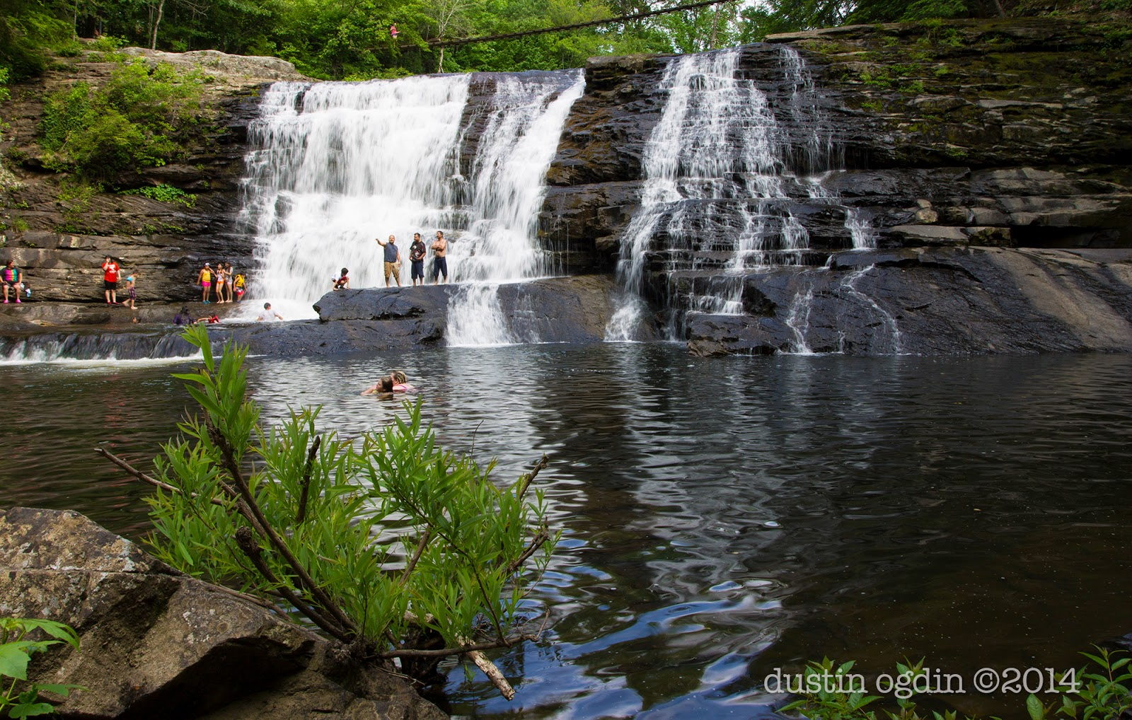 Swimmers at Cane Creek Cascades, Fall Creek Falls