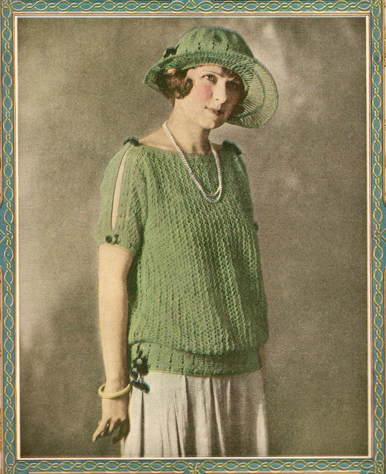 Vintage Knitting Patterns 1920s : The Vintage Pattern Files: 1920s Knitting - A Summer Sweater