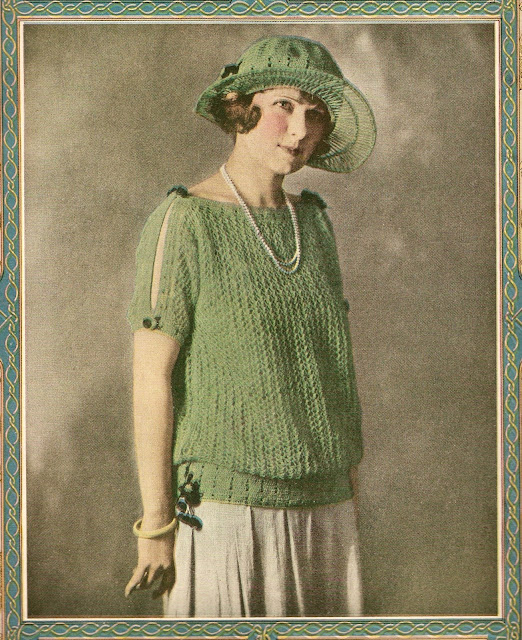 The Vintage Pattern Files: Free 1920's Knitting Pattern - A Summer Sweater