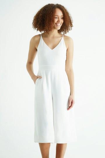 oasis white jumpsuit, white culotte jumpsuit,