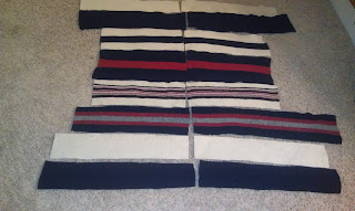 Quilt from old wool sweaters