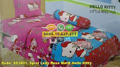 Harga Sprei Lady Rose Motif Hello Kitty Jual