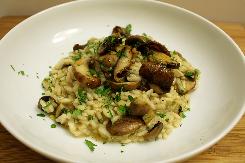 Vanilla Clouds and Lemon Drops: Mushroom Risotto