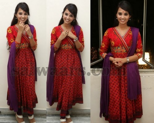 Aarushi Red Printed Salwar
