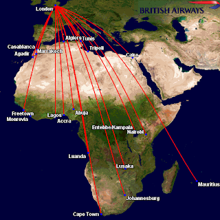 British Airways' Africa Network