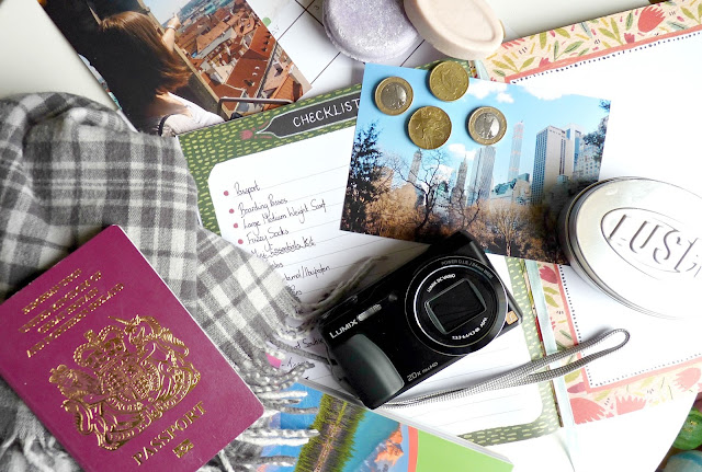 A picture of travel essentials