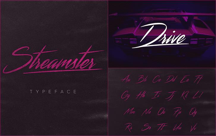 ستريمستر Streamster Typeface