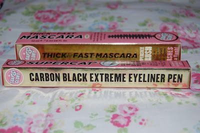 soap and glory thick and fast mascara and supercat eyeliner