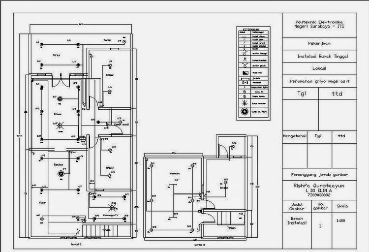 Contoh  denah instalasi listrik rumah