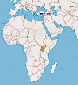 Uganda Haritada Nerede
