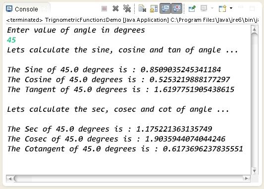 How to calculate trigonometric functions values in java learn trigonometricfunctionsinjava ccuart Choice Image