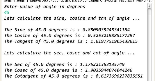 How to calculate trigonometric functions values in java learn how to calculate trigonometric functions values in java learn java by examples ccuart Choice Image