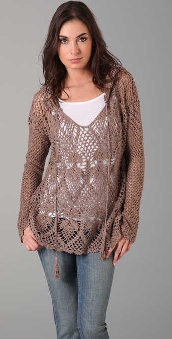 Free Crochet Pattern Hooded Sweater : STYLEBOOZE: HOLEY MOLEY!