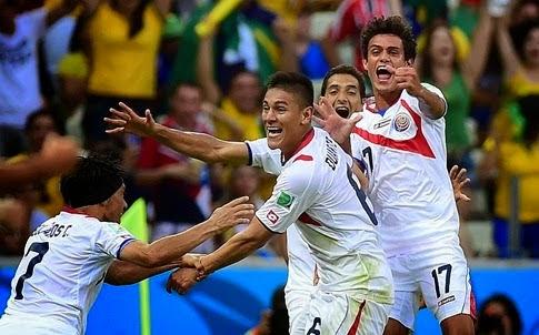Goles del partido URUGUAY 1 vs 3 COSTA RICA