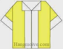 Bước 14: Hoàn thành cách xếp cái áo sơ minh cộc tay bằng giấy theo phong cách origami.