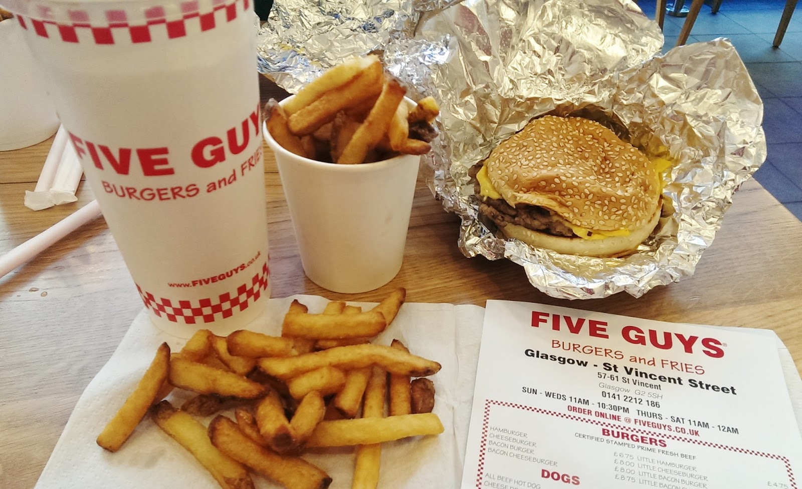 Five Guys Glasgow Review