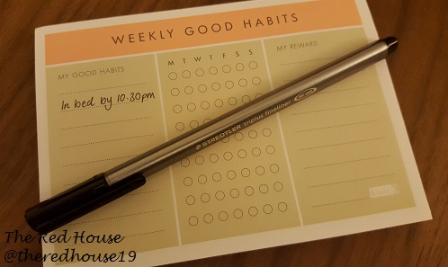 The Red House Blog - Kikki K Weekly Good Habits Notepad