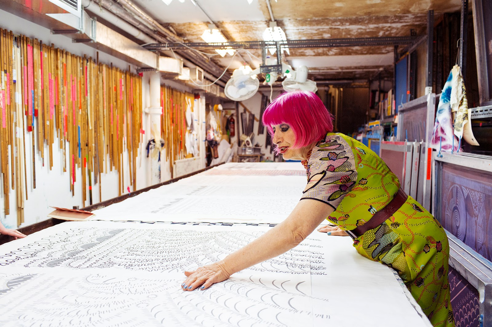 Loveisspeed Zandra Rhodes Fashion Designer At Home And Her Studio In London From The
