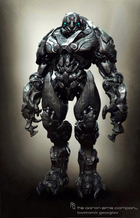 Tsvetomir Georgiev ilustrações artes conceituais e modelos 3D filmes Robôs