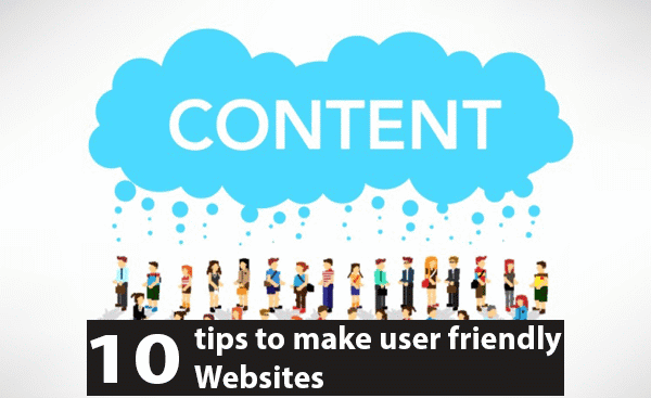 Tips to make user friendly websites