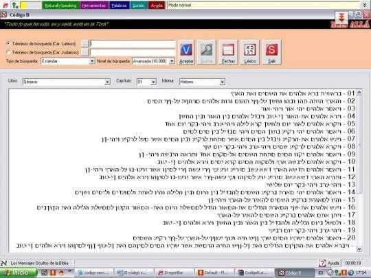 El código secreto de la Biblia o el crucigrama hebreo del fin de los tiempos