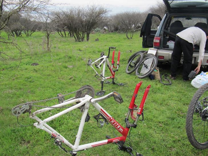 Preparando las bicicletas!