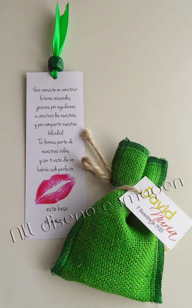 Detalles de boda personalizados