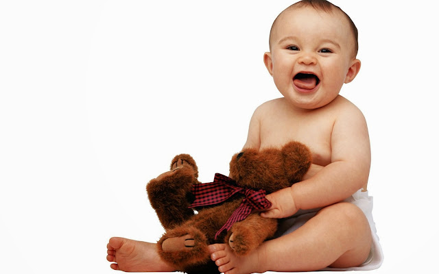10927-Cute Baby With Teddy Bear HD Wallpaperz