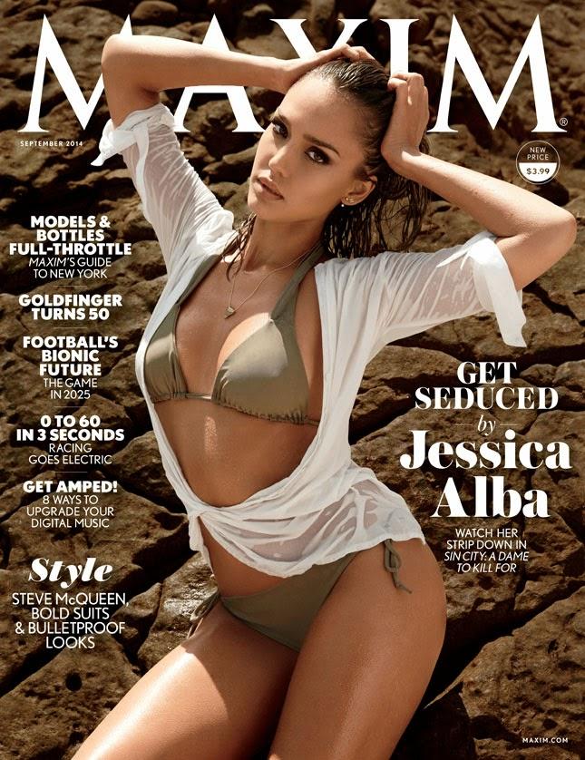 Jessica Alba portada de Maxim USA agosto 2014