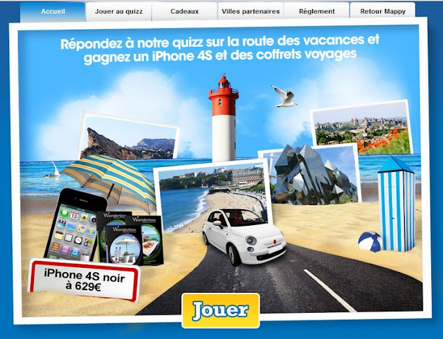 Jeu concours Mappy: 1 iPhone 4S et 3 week-ends à gagner