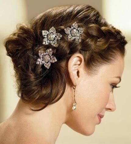 Semirecogidos con trenzas para novias Los mejores  - Peinados Con Trenzas Para Boda