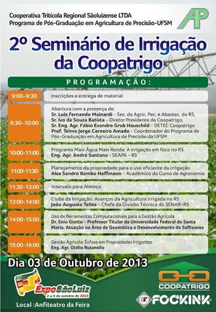 2° Seminário de Irrigação da Coopatrigo/RS