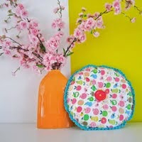 Round Cushion Crochet Edge