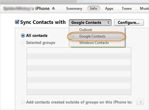 import contacts from icloud to android