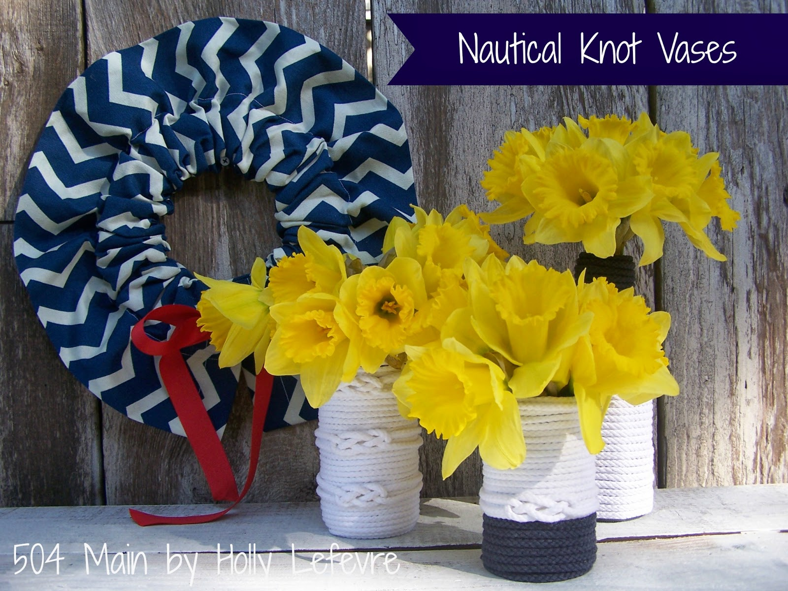 Nautical Knot Vases from 504 Main