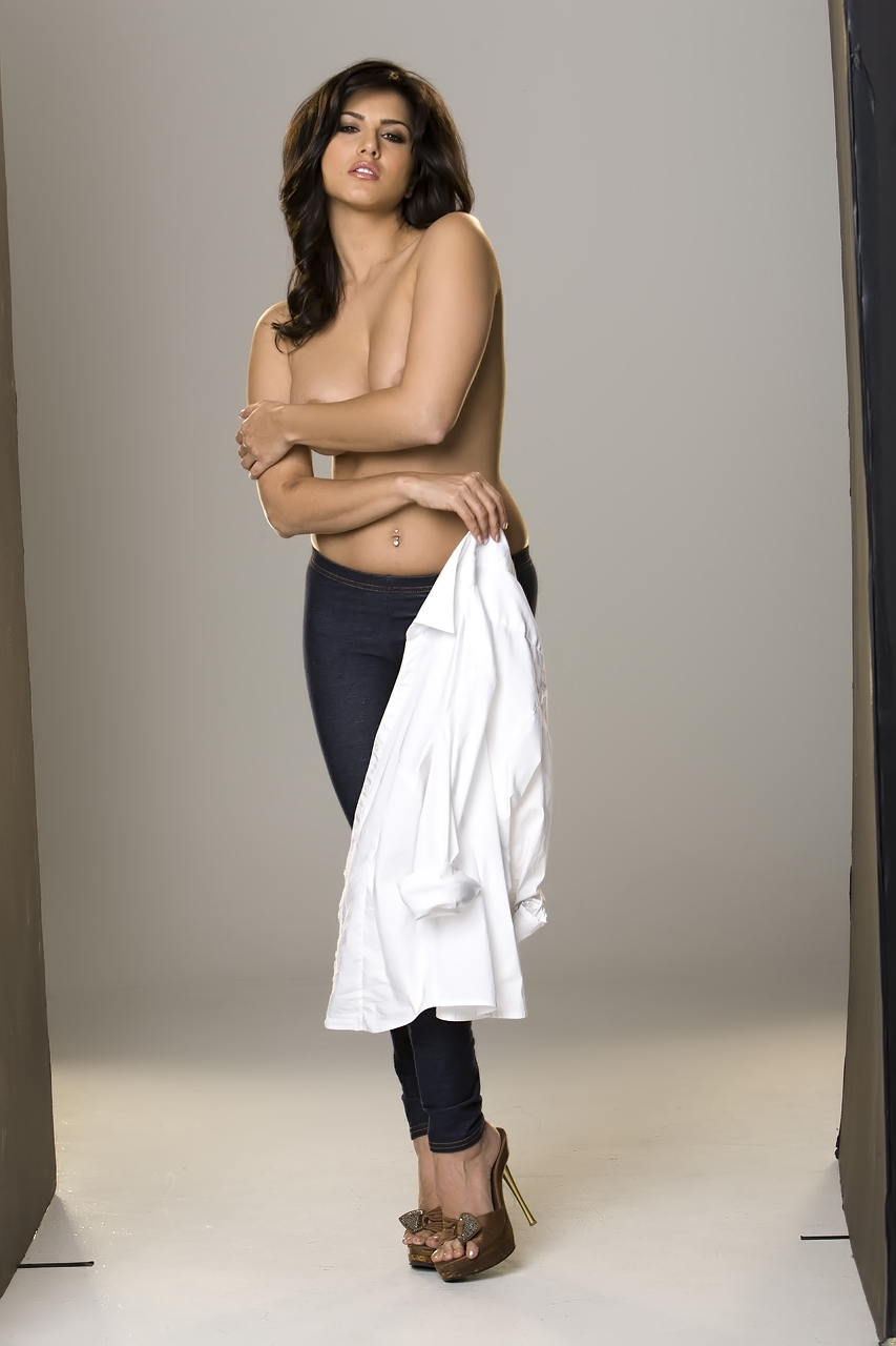 Something is. Sunny Leone nude white shirt are